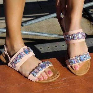 🆕//The Coraline// Light Pink jeweled Sandal